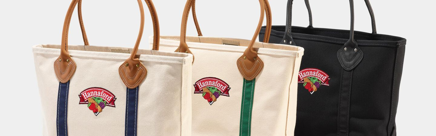 Leather-Handle Boat and Tote Bags