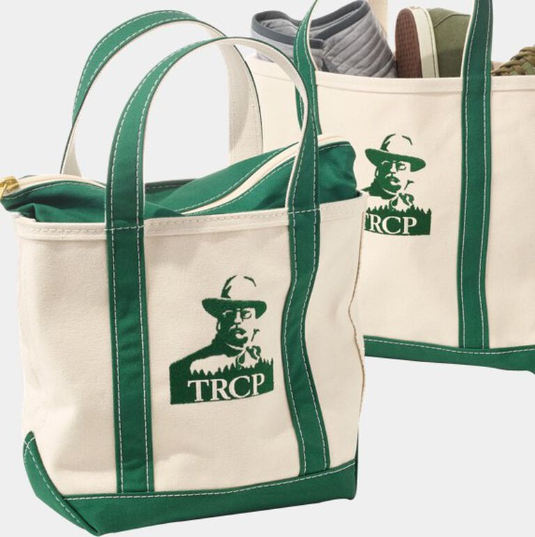 Boat and Totes with logos