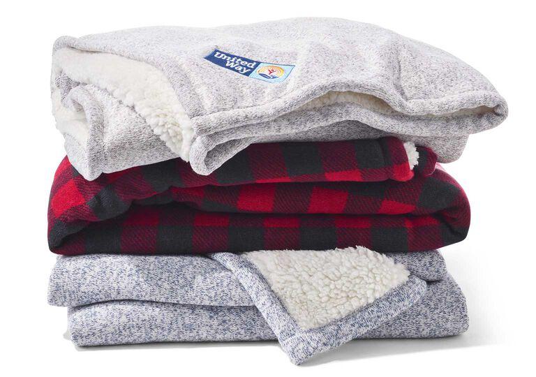 L.L.Bean Sweater Fleece Throws with Logos